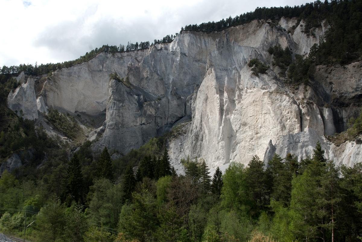 Rheinschluchtfelsen Kräuterwanderung Trin / Flims (Graubünden)