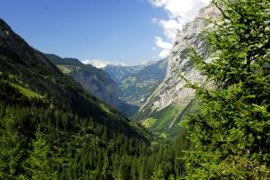 Blick aus dem Hinteren Lauterbrunnental
