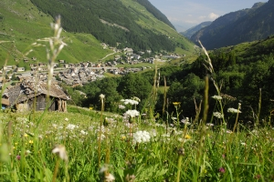 Vals Dorf Ansicht